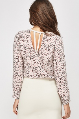 Printed Metallic Trim Top
