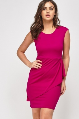 Ruched Side Sleeveless Dress