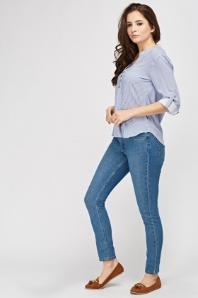 Skinny Ankle High Waist Jeans