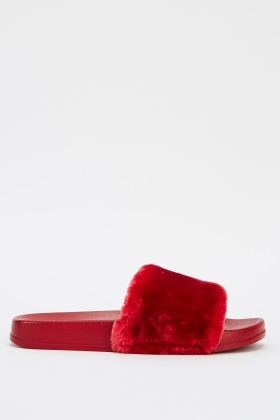 Faux Fur Classic Sliders