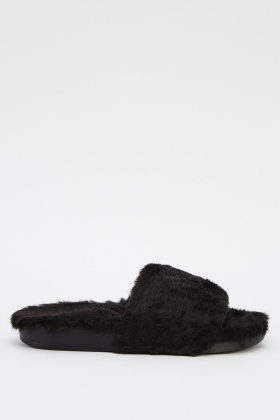 Faux Fur Sliders