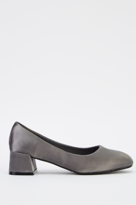 Low Heel Sateen Shoes