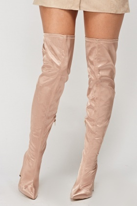 Over The Knee Court Sateen Boots