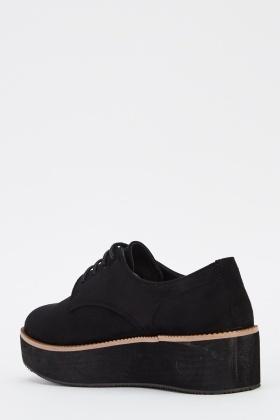 Platform Suedette Lace Up Shoes - Just $6