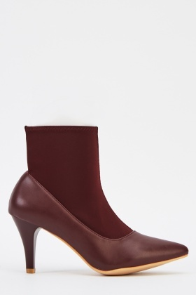Sock Insert Heeled Court Boots