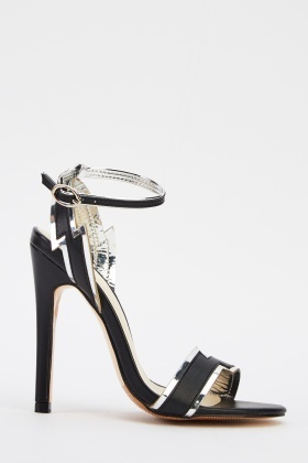 Two Tone Ankle Strap Heels