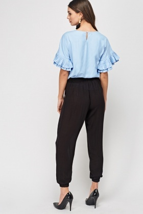 Embroidered Side Light Weight Trousers
