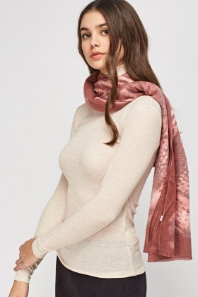 Soft Knit Animal Print Scarf