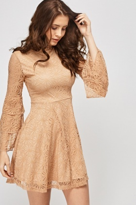 Crochet Layered Sleeve Dress
