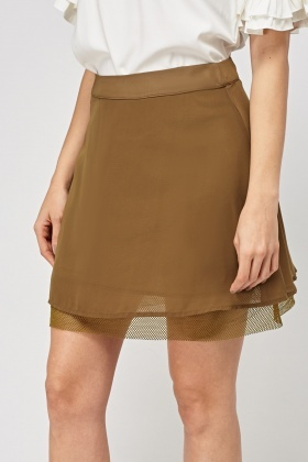 Laser Cut Insert Mini Skirt
