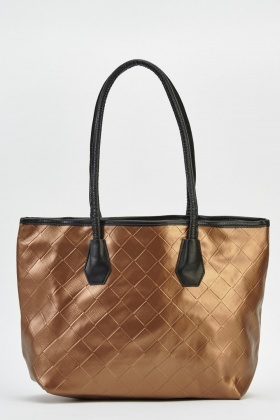 Basket Weave Faux Leather Bag