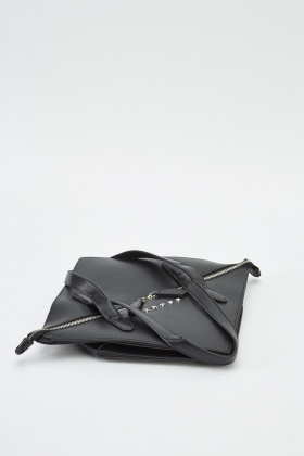 Black Folded Handbag