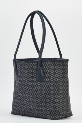 Black Printed Handbag
