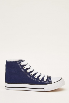 High Top Blue Trainers