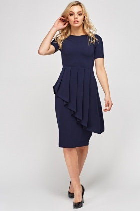 Peplum Short Sleeve Dress