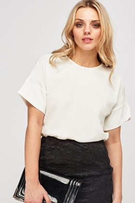 Textured Casual Box Top