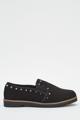 Studded Suedette Shoes