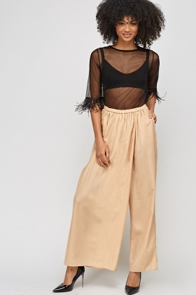 Wide Leg Light Weight Trousers