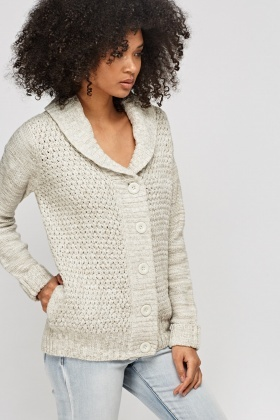 Cable Knit Button Up Cardigan - Just £5 3ea6b27d4