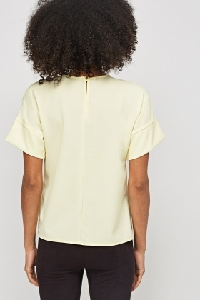 Textured Yellow Box Top