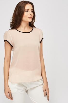 Sheer Peach Top