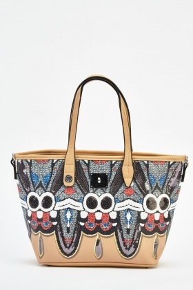 Fly Printed Handbag