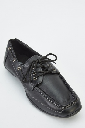 Mens Laced Boat Shoes
