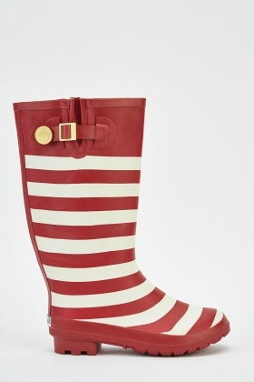Striped Wellie Boots