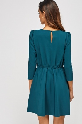 3/4 Sleeve Swing Dress