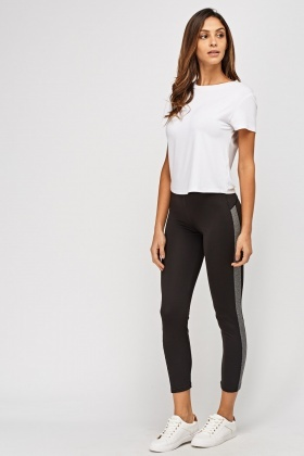 Speckled Contrast Sports Leggings
