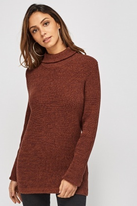 Speckled Knitted Roll Neck Jumper