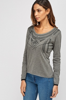 Stitched Front Sweater