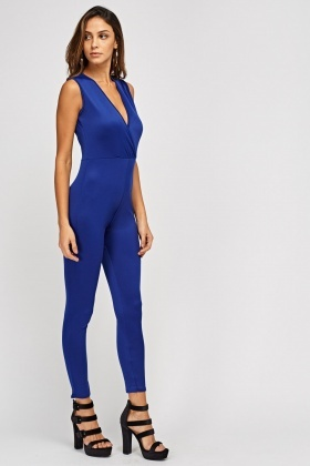 Wrap Fitted Jumpsuit