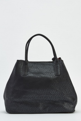 2 In 1 Faux Leather Shopper Bag