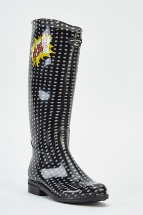 Dotted PVC Wellie Boots