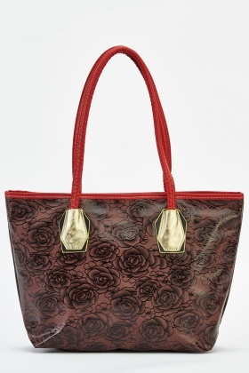 Printed Rose Handbag