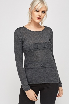 Cable Knit Knitted Top