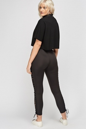 Lace Up Side Leggings