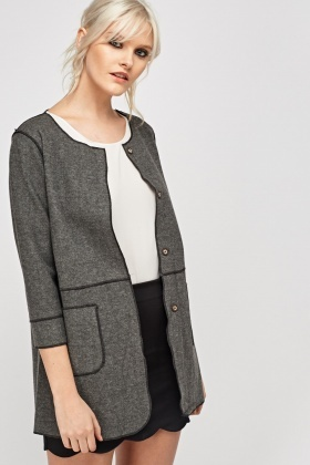Stitched Trim Casual Jacket