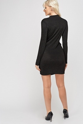 Twist Knot Choker Lurex Dress