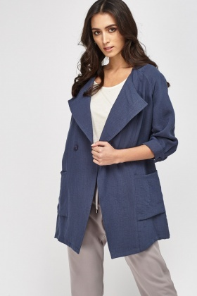 3/4 Sleeve Long Jacket