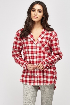Checked Pyjama Shirt