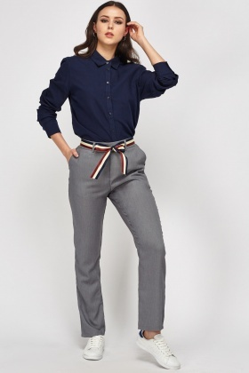 Belted Grey Trousers