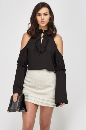 Frilled Trim Layered Top