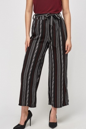 Striped Printed Trousers