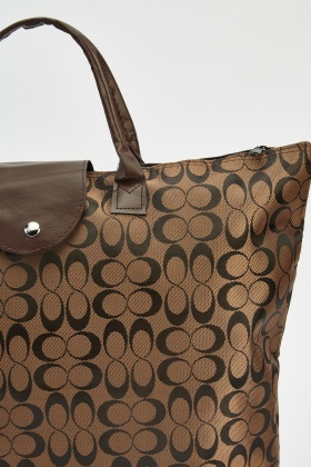 Brown Foldable Shopper Bag
