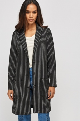 Mono Striped Long Jacket