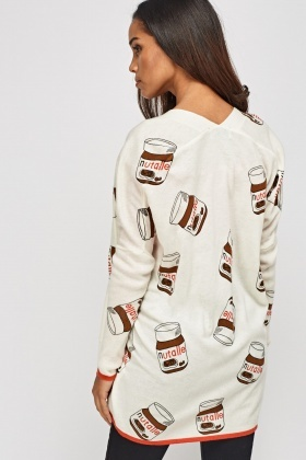Nutella Printed Cardigan