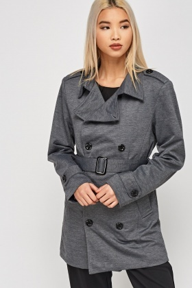 Double Breasted Grey Jacket