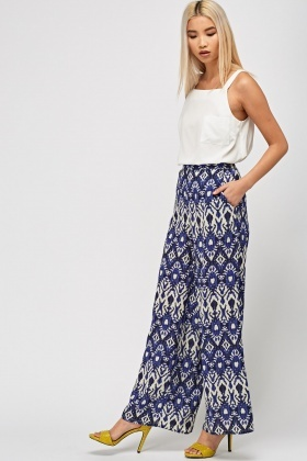 Ornate Wide Leg Trousers